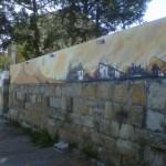 Entrada con grafiti