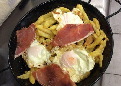 Sartén de huevos